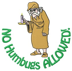 No Humbugs embroidery design