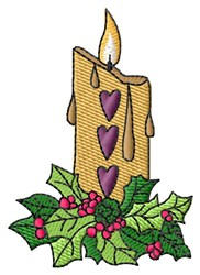 Candle embroidery design