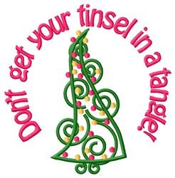 Merry Xmas Tree embroidery design