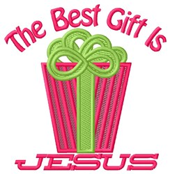Jesus The Best Gift embroidery design