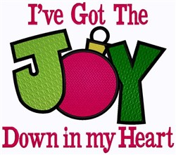 Joy In My Heart embroidery design