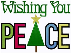 Wishing You Peace embroidery design