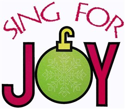 Sing For Joy embroidery design
