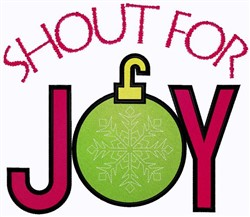 Shout For Joy embroidery design