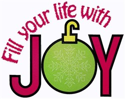 Fill Life With Joy embroidery design