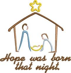 Christmas Nativity Outline embroidery design