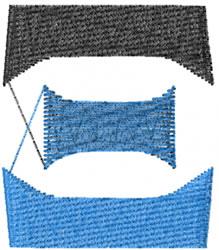 Small Toga Xi embroidery design