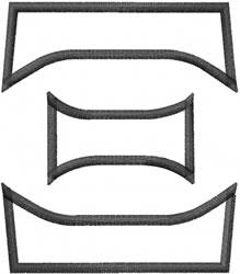 Toga Outline Xi embroidery design