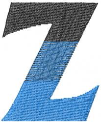 Small Toga Zeta embroidery design