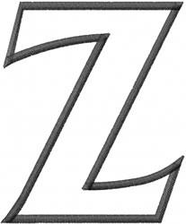 Toga Outline Zeta embroidery design