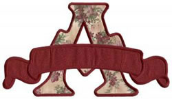 Applique Banner A embroidery design