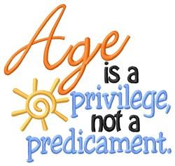 Age Is Privilege embroidery design