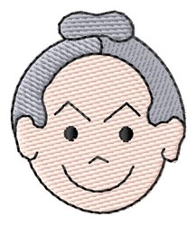 Old Woman Face embroidery design