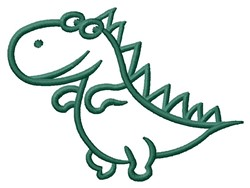 Dino Outline embroidery design