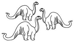 Dinos Outline embroidery design