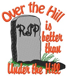 The Hill embroidery design