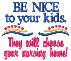 Be Nice embroidery design