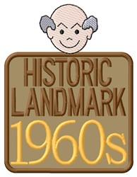 Landmark 1960s embroidery design
