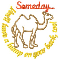 Have A Hump embroidery design