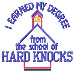 Hard Knocks embroidery design