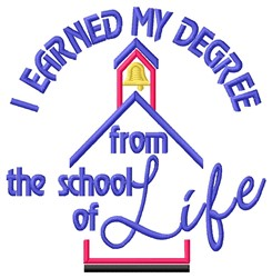 School Of Life embroidery design