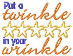 Twinkle In Wrinkle embroidery design