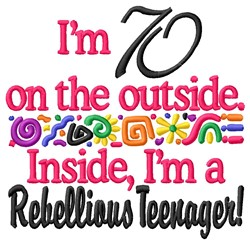 70 Teenager embroidery design