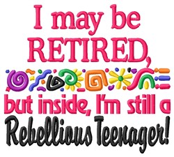 Retired Teen embroidery design