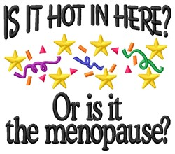 Hot Or Menopause embroidery design