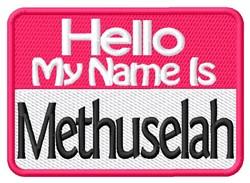 Methuselah embroidery design