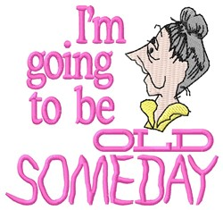 Old Someday embroidery design
