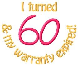 Warranty 60 embroidery design