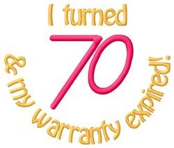Warranty 70 embroidery design