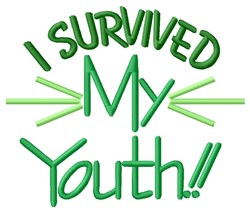 Survived Youth embroidery design