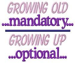 Growing Up embroidery design