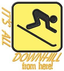 All Downhill embroidery design