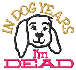Dog Years embroidery design