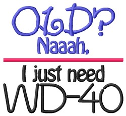 Need WD-40 embroidery design