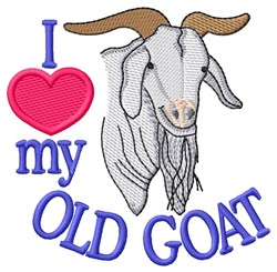 Love Goat embroidery design