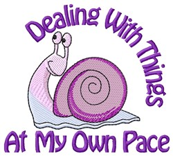 My Own Pace embroidery design