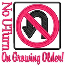Growing Older embroidery design