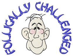 Follically Challenged embroidery design