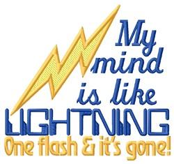 Like Lightning embroidery design