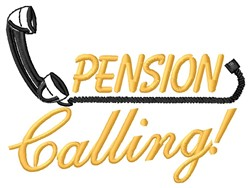 Pension Calling embroidery design
