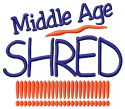 Middle Age Shred embroidery design