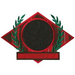 Wreath Shape Applique embroidery design
