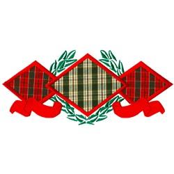Three Diamond Applique embroidery design
