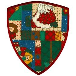 Large Shield Applique embroidery design