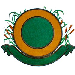 Circle with Cattails embroidery design