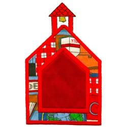 Schoolhouse Applique embroidery design